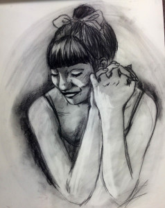 Kyle Foster - Warm Embrace, charcoal 2015