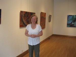Veteran/artist Imo Lax exhibits her paintings.
