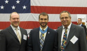 Medal of Honor recipient Sal Giunta (center) with Troy Muller (left) and Scott Smith (right)