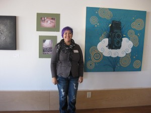 Veteran/Artist Ronee Smith exhibits her paintings in New Century Art Guild Gallery