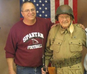 Executive Director Dr. Scott P. Smith with WW2 veteran Ed Mauser