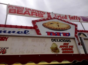 "Also available was ""fried taffy"" for the less health-conscience!"