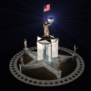 Living Liberty Central Monument --at night