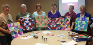 "Vietnam Veteran's wives display their ""Barn Quilt"" projects"